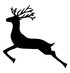 Reindeer isolated on white background vector