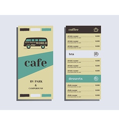 Restaurant and cafe menu Flat design Rv park and vector image vector image
