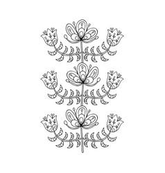 scandinavian folk style flowers for your design vector image