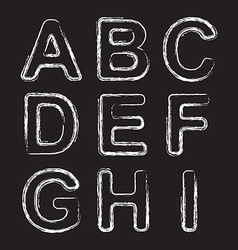 Set Chalk Hand Drawing Alphabet vector image