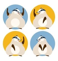 Set of badgers vector