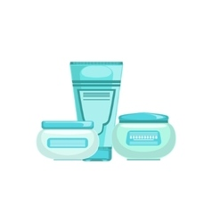 Set of specialized dermatological skincare vector