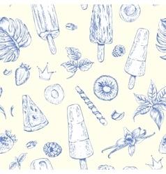 Summer natural eco food seamless pattern vector