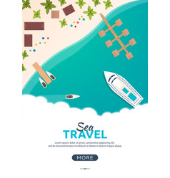 summer travel banner sea travel summer time vector image