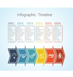 timeline arrows 6 vector image vector image