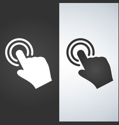 touch hand icon vector image