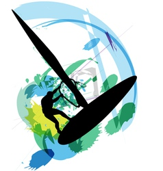 Windsurfing vector image vector image