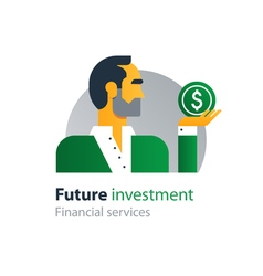 Future finances investment management business vector image