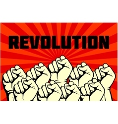 Protest rebel revolution art poster vector