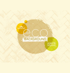 organic nature eco friendly background vector image