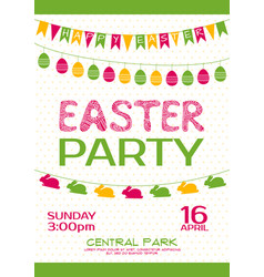 easter party invitation poster vector image