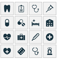 Antibiotic icons set collection of device claw vector