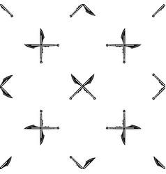 Japanese tanto daggerspattern seamless black vector