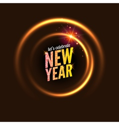 2017 new year background glowing circle frame vector