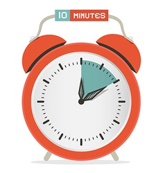 Ten minutes stop watch - alarm clock vector