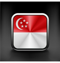 Original and simple republic of singapore flag vector