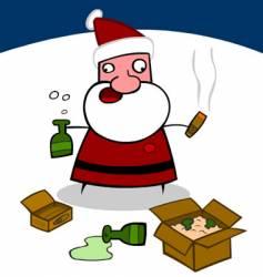 Drunk santa vector