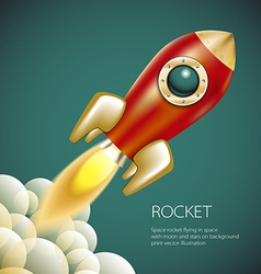 Rocket icon space fire symbol flame cartoon vector