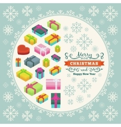 Merry christmas decorating design vector