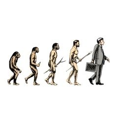 Businessman evolution vector