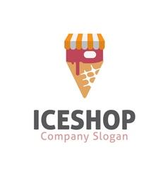 Ice Design Shop vector image