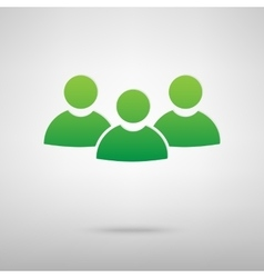 Team work green icon vector