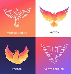 Abstract logo design template in bright gradient vector