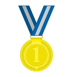 Gold medal first place vector