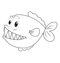 animal doodle for fish vector image vector image