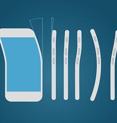 Bending modern smartphone vector