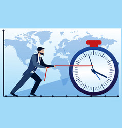 business concept businessman trying to stop the vector image vector image