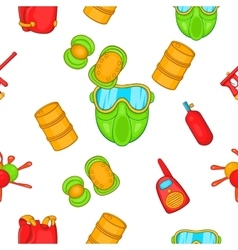 Competition paintball pattern cartoon style vector