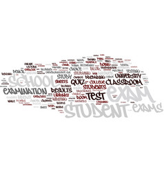 Exams word cloud concept vector