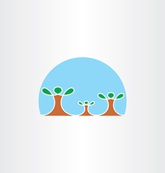family tree icon symbol vector image