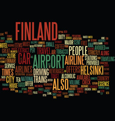 Finland text background word cloud concept vector