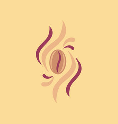 Flat icon on background coffee beans logo vector
