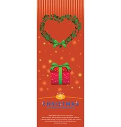 Grape wreath bouquet ornament for christmas flyer vector