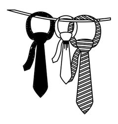 Isolated necktie design vector image