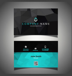 low poly business card 1008 vector image vector image