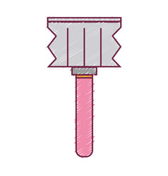 Meat mallet kitchen utensil that used to cook vector