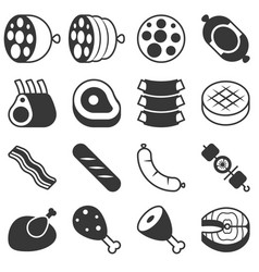 meat products icon in silhouette design vector image