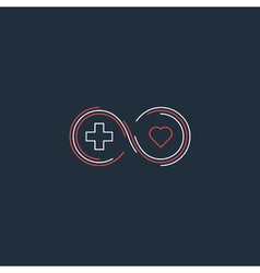 Medical health insurance icon and logo concept vector