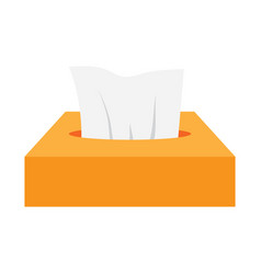Napkins in box vector