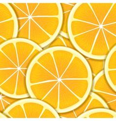 Orange segments seamless background vector image vector image