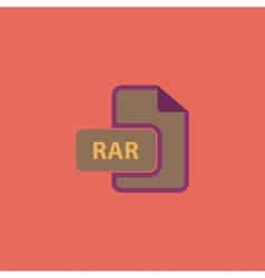 RAR file format icon vector image vector image