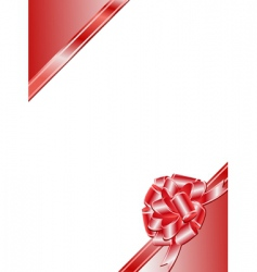ribbon bow frame vector image
