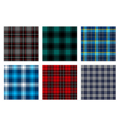 Seamless checkered plaid pattern bundle 8 vector