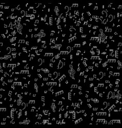 seamless pattern from set of musical notes and vector image