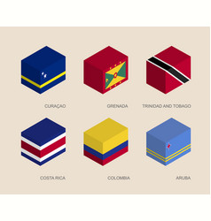 Set of isometric 3d boxes vector
