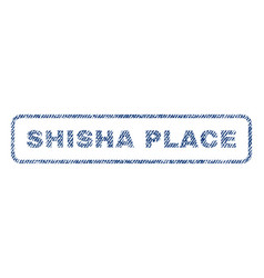 Shisha place textile stamp vector